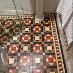 victorian floor in bathroom